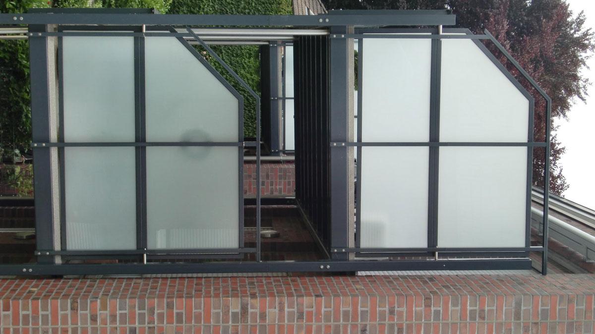 elegant sichtschutz glas edelstahl einzigartige ideen zum sichtschutz. Black Bedroom Furniture Sets. Home Design Ideas